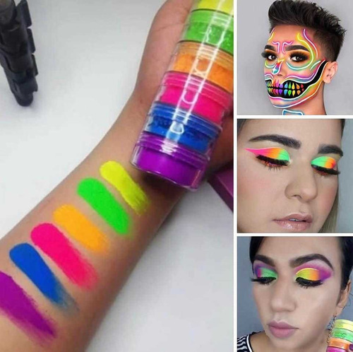 pintura corporal neón ideal para fiestas body paint 5$x6 !!