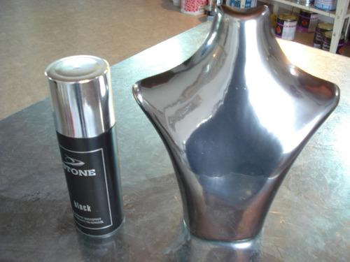pintura cromada (solvente) -efecto cromo espejo - tunning