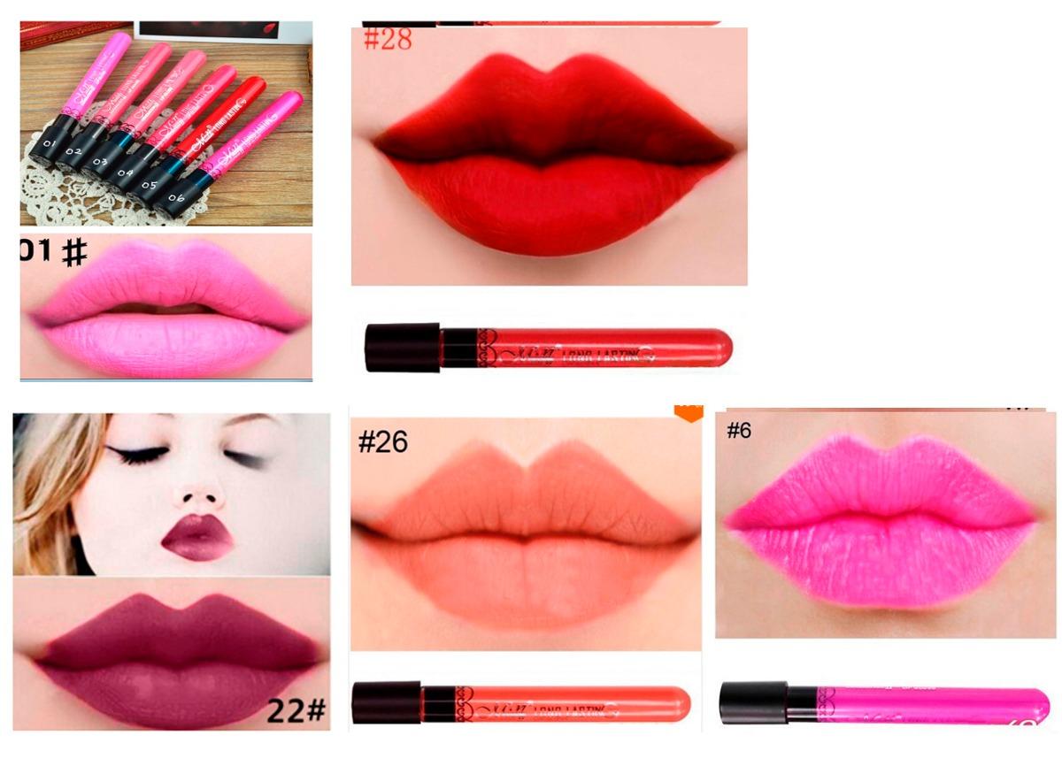 Pintura de boca labios labiales matte liquidos colores for Colores de pintura de moda