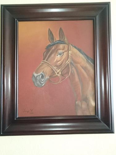 pintura de caballo al óleo