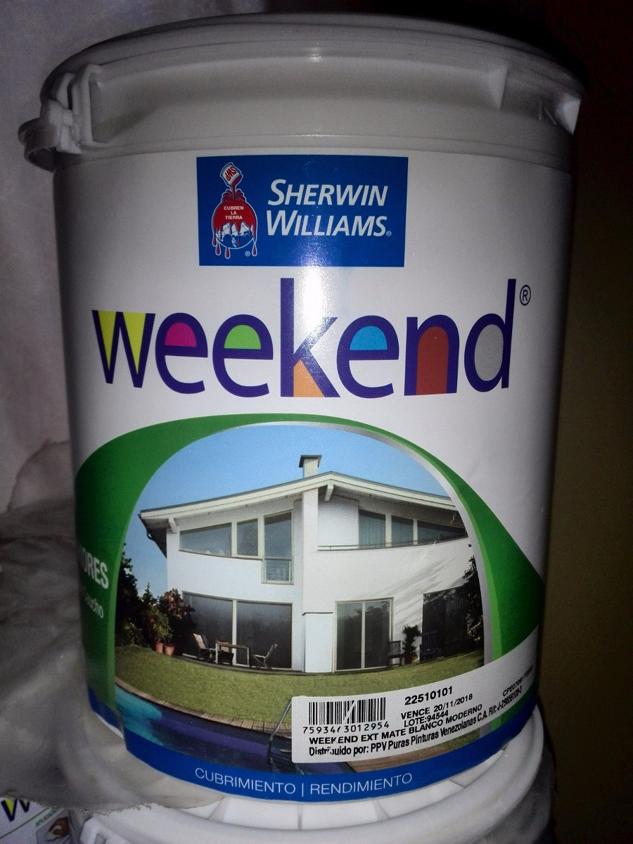 Pintura de caucho exteriores weekend sherwin williams - Pintura de caucho ...