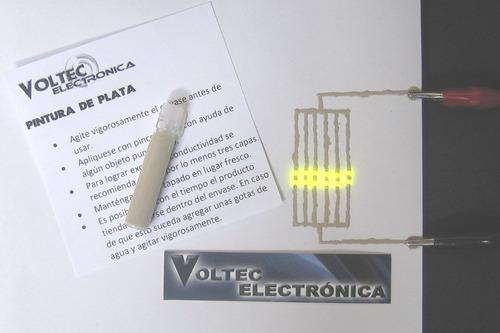 pintura de plata alta conductividad electrica. 1 cc