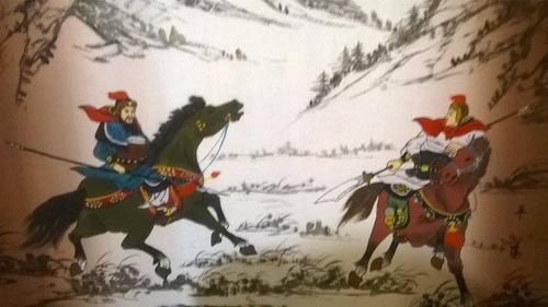 pintura de samurai al oleo