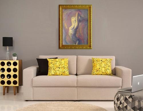pintura de tecnica mista sobre tela, 50cm x 70cm