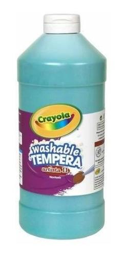 pintura de témpera lavable turquesa crayola, 32 onzas