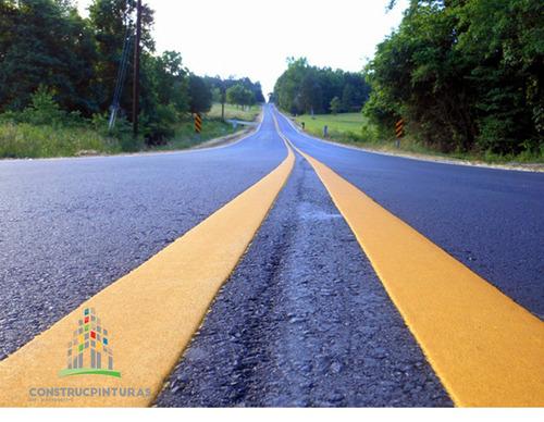 pintura de trafico amarillo galon reflectivo demarcacion