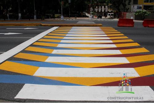 pintura de trafico colores varios cuñete reflectivo demarcar
