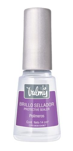 pintura de uñas brillo sellador valmy