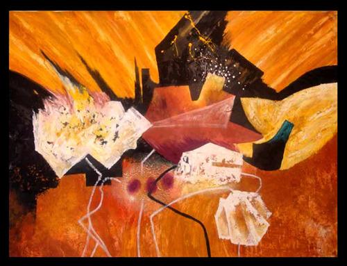 pintura decorativa al óleo texturizadas grande 120cm x 90cm