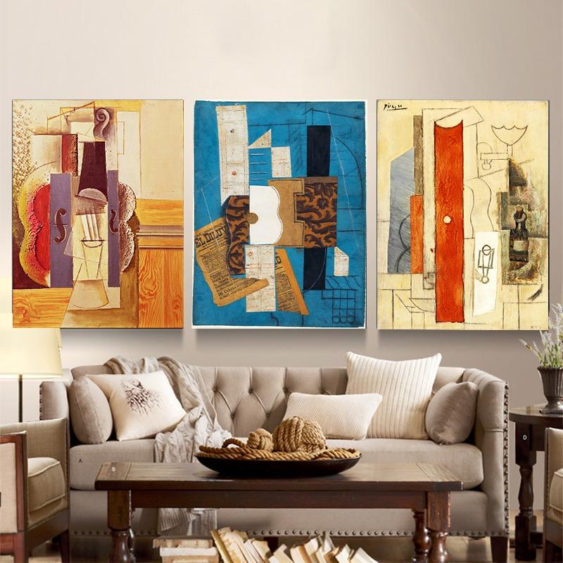 Pintura Decorativo Triple Sin Marco Abstracto 12 X 16 Pulgad ...