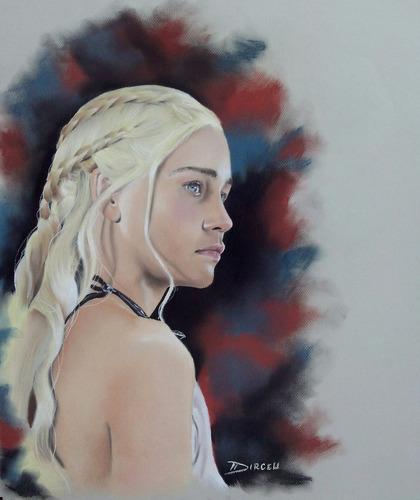 pintura desenho daenerys targaryen game of thrones