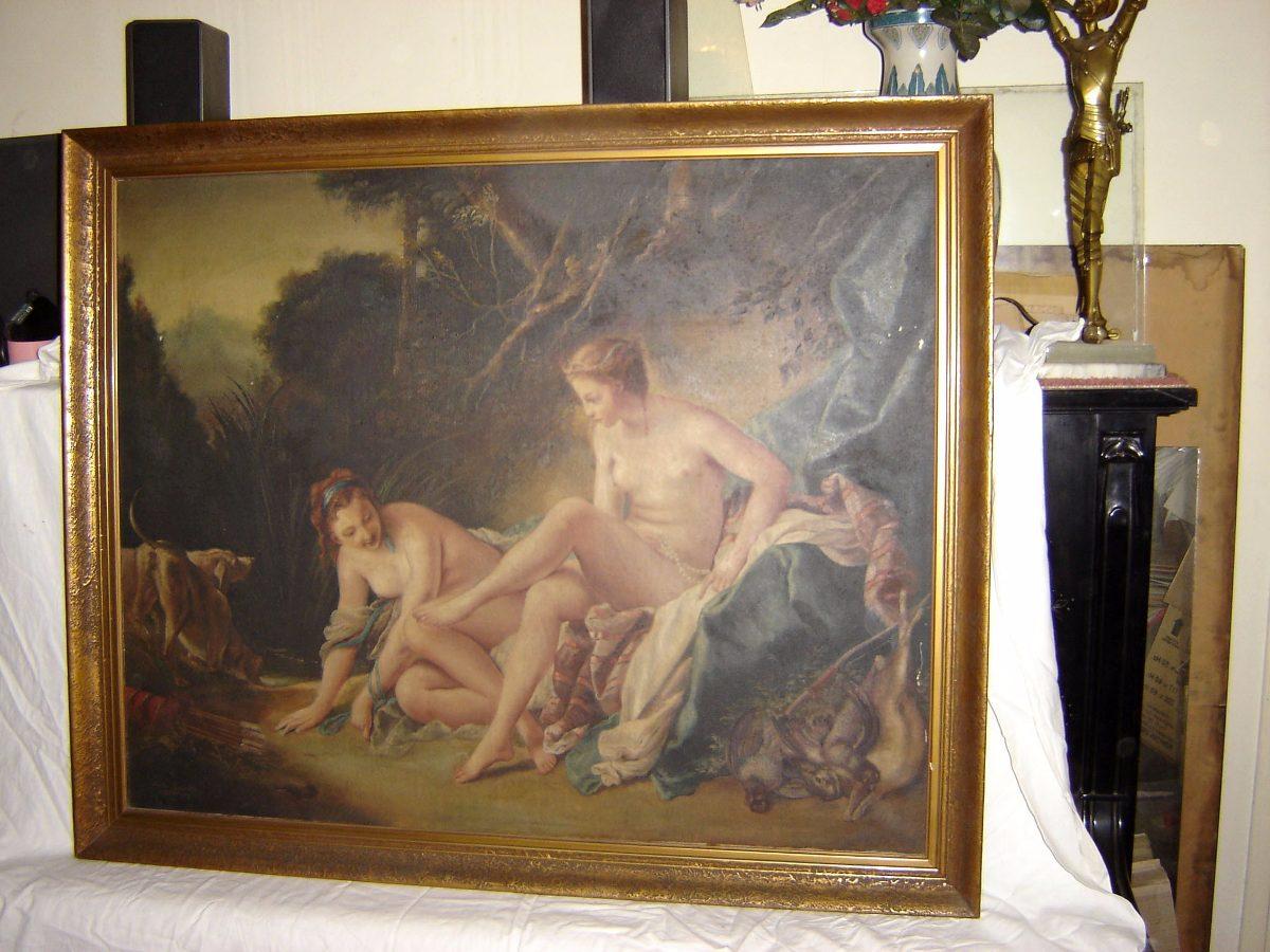 Boucher El Bano De Diana.Pintura Diana Despues Del Bano F Boucher Por J Roettiers 86 000 00