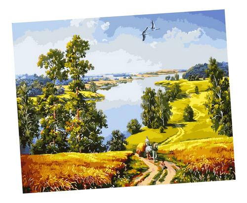 pintura diy de número lona lienzo ilustraciones mural arte