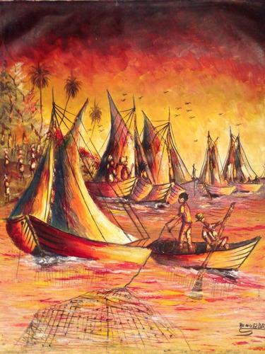 pintura em tela 60x75cm sem moldura - edição especial