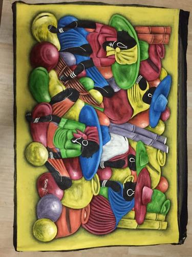 pintura em tela artista dominicano, 1,10 x 1,52 m