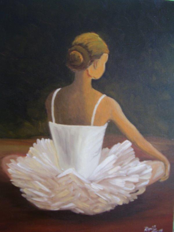 Pintura Em Tela Oleo Quadro Desenho Artistico Bailarina R