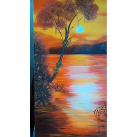 Pintura Em Tela Pôr Do Sol