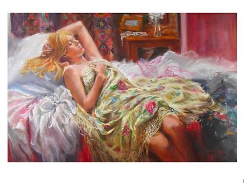 pintura em tela, reprodução de quadro famoso