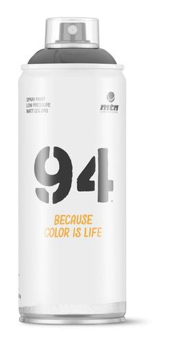 pintura en aerosol montana 94 negro mate - ml a $49