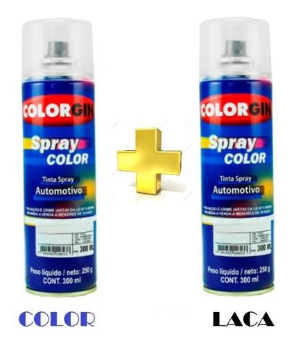 pintura en aerosol para auto retoque bicapa color + laca