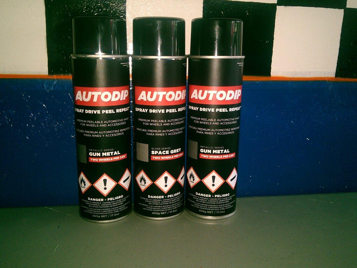 Pintura en spray automotriz autodip gris metalico 690 - Pintura en spray para coches ...