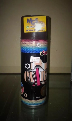 pintura en spray color café marca evans paints.