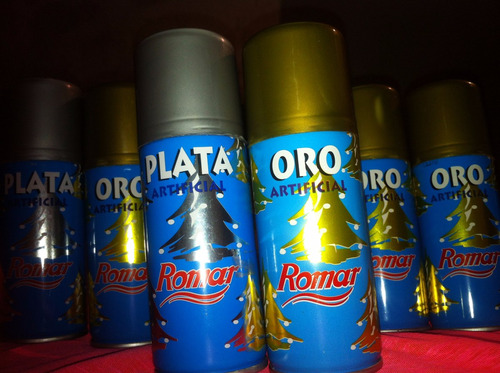 pintura en spray plata artificial color metal importado