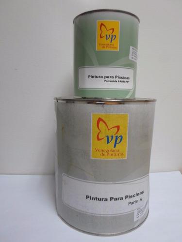 pintura epoxi para piscina azul + catalizador marca vp pf-i