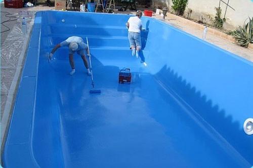 Pintura epoxica para piscinas azul bs en for Pintura para piscinas