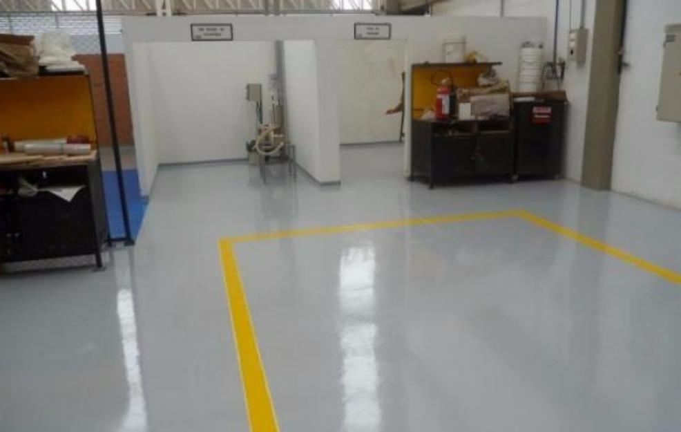 pintura epoxica para piso y senalizacion en