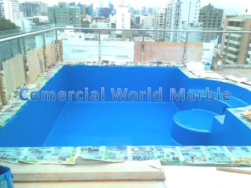 pintura epoxica poliuretano para piscina ventas aplicación