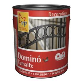 Pintura Esmalte (aceite) Negro Mate Vp Domino Galón