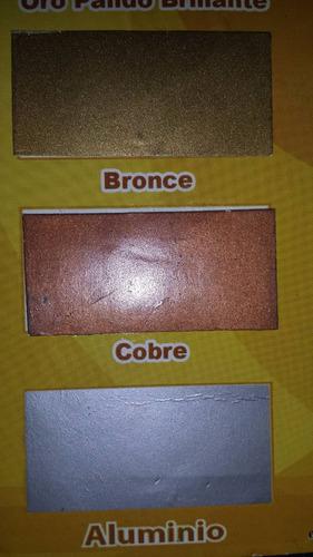 pintura esmalte metalizado dorado/bronce/oro doralux 1/4 gal