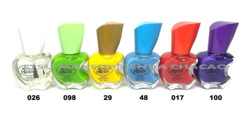 pintura esmalte uñas matte paris brillo transparente x4