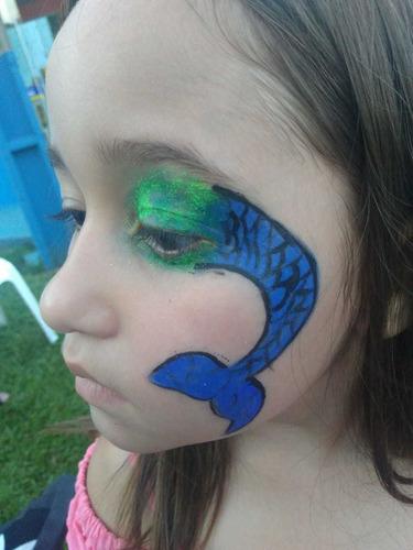 pintura facial, recreação e oficinas de slime para crianças.