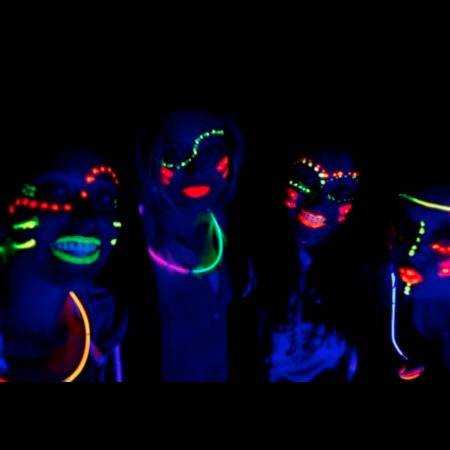 pintura fluor maquillaje pinta carita color fiestaclub