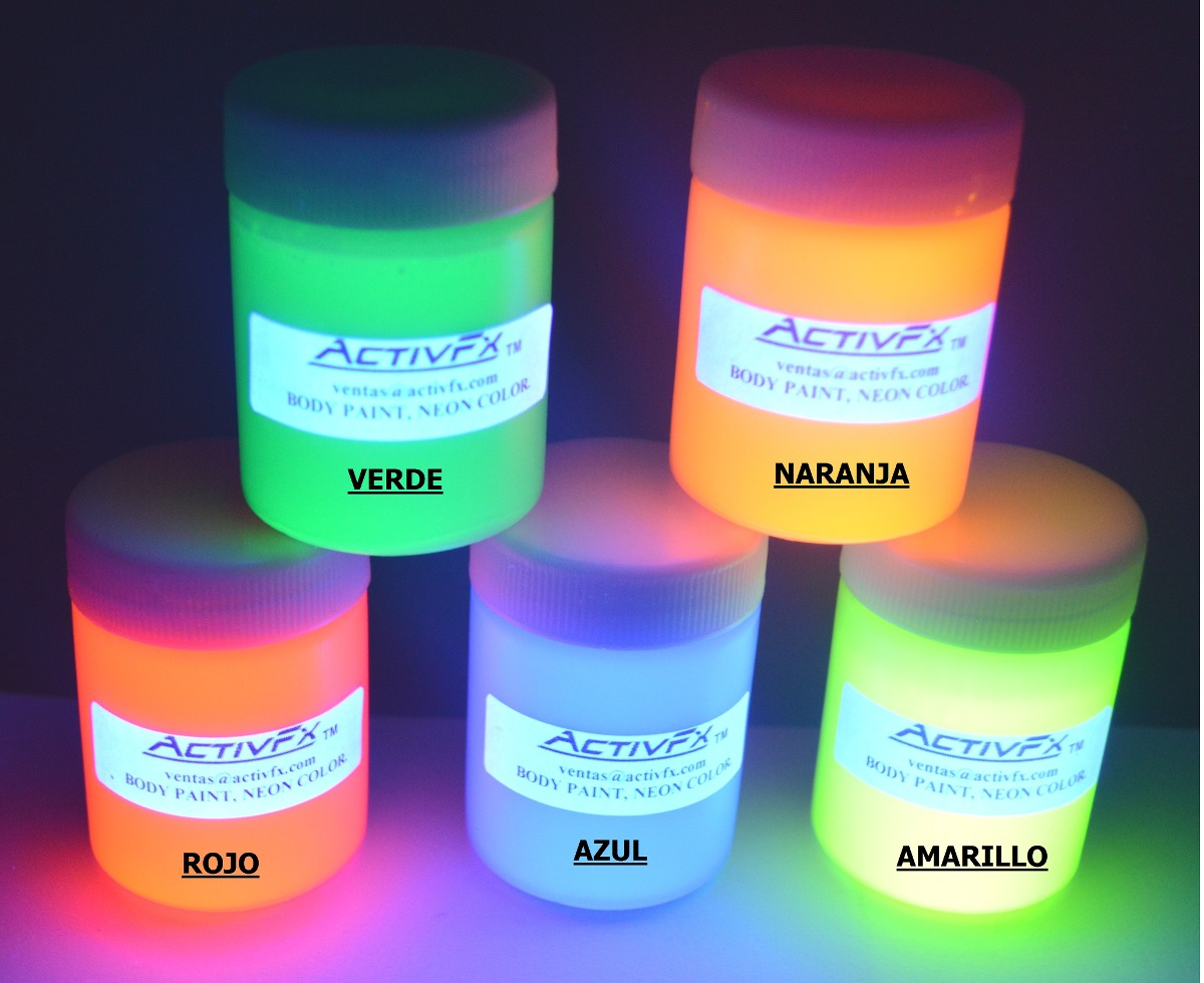 Pintura fluorescente neon para maquillaje en - Pintura lavable para paredes ...