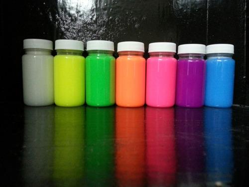 pintura fluorescente y fosforescente para aventar 4 lts