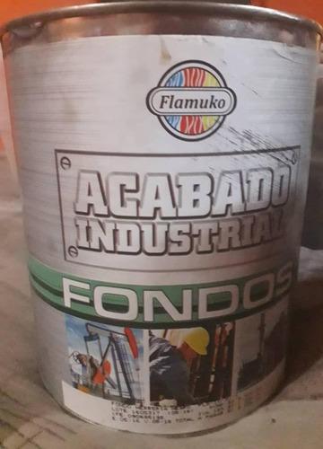 pintura fondo industrial color gris, flamuko, galón