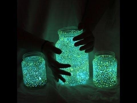 pintura fosforescente glowing jar  brilla en la noche!