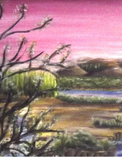 pintura guache natureza pequena