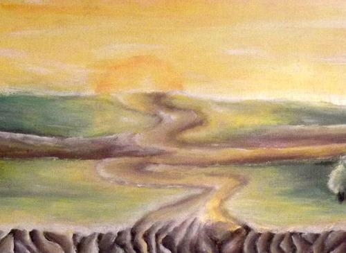 pintura guache paisagem pequena