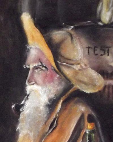 pintura guache tela releitura tropeiro