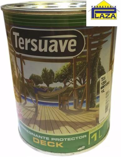 pintura impregnante para deck 1 lt madera protector tersuave