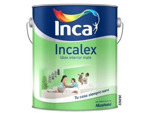 pintura interior incalex mate blanco 4 litros. inca