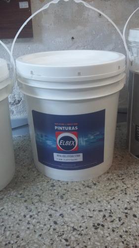 pintura interior/exterior elbex 18 lts blco  latex acrilico