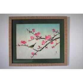 Pintura Japonesa Sumiê Seda Autor Nao Identif Aprox 1950