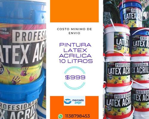pintura latex 10 litros