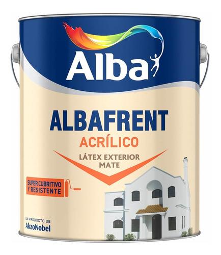 pintura latex acrilico albafrent para exteriores x 20. alba