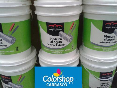Pintura latex interior exterior antihongos 20 lts for Pintura latex interior